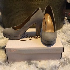 Candie's Light Grey Platform Heels